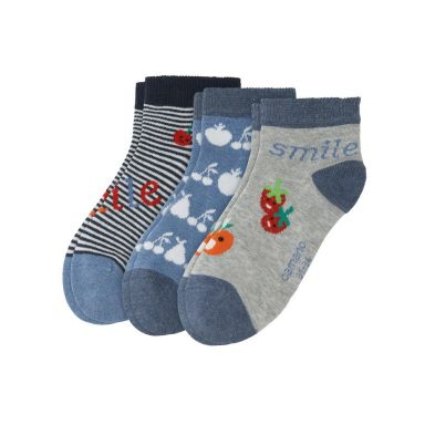 camano Socken Jr. Fash. Quarter Smile - fog