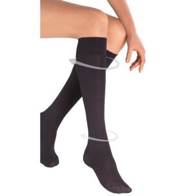camano Kniestrümpfe Support Knee-High 40 den-black