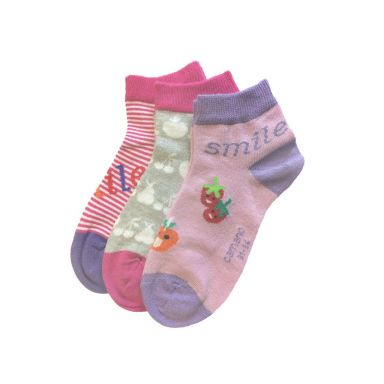 camano Socken Jr. Fash. Quart. Smile-pink la