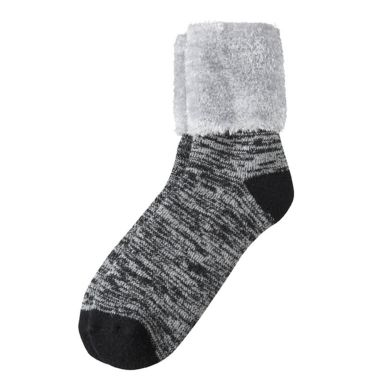camano Socke Women Cosy Socks - black