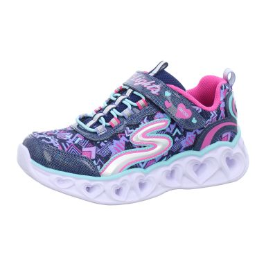 Skechers Klettschuhe Sportboden S Lights® - Heart Lights
