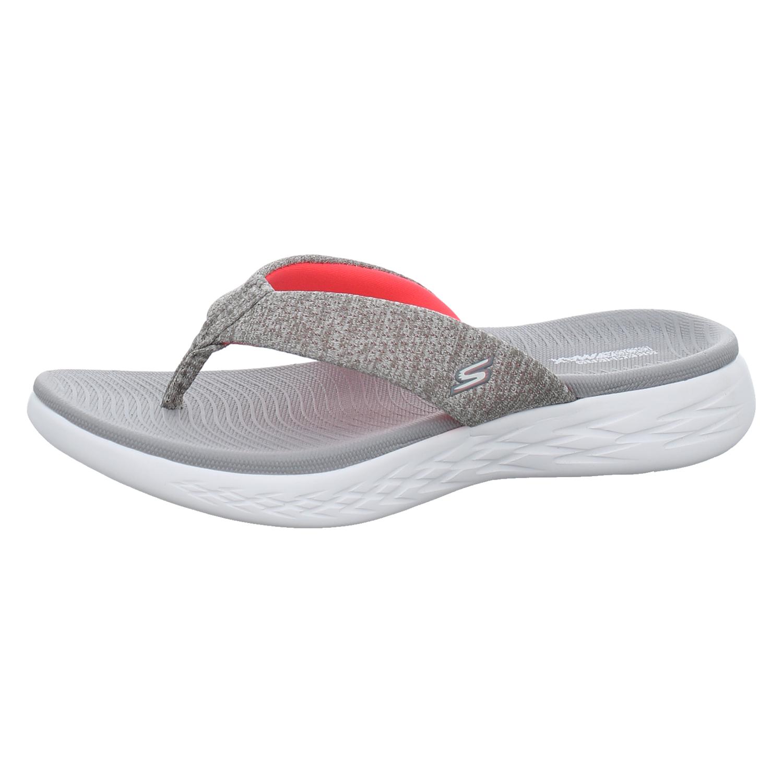 | Zehentrenner Pantolette grau von Skechers