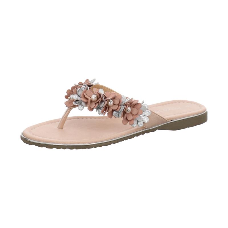 Marco Tozzi Zehentrenner Pink Damen Schuhe Pantoletten