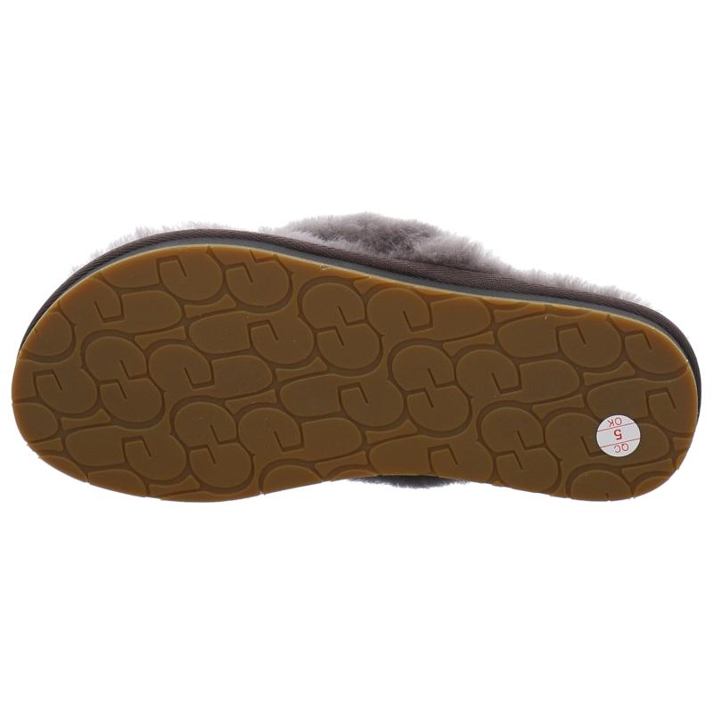 41b7eb12ccce UGG Boots Hauspantoffel Winter Fluff Flip Flop III in grau