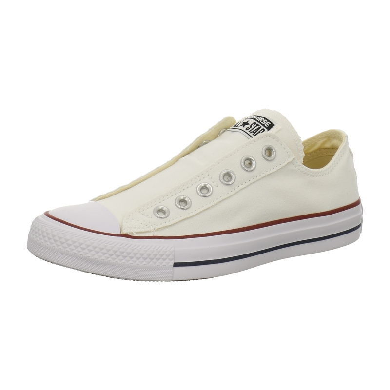 converse chucks low chuck taylor as slip on in weiss 1aschuh. Black Bedroom Furniture Sets. Home Design Ideas